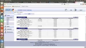Meniu ADSL modem HG655b